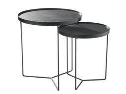 J-Line Nesting tables Black-brown