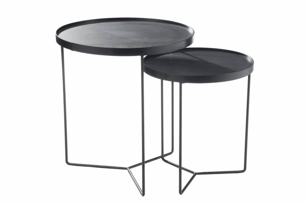 Set nesting tables Black-brown