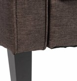 J-Line Couch - Sleeper sofa - 3 seater dark brown