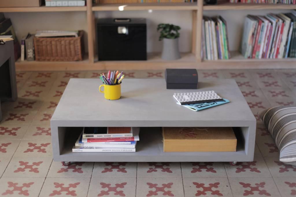 Lyon Béton Monobloc concrete coffee table