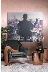 Dome Deco Gin loungestoel met fluweel