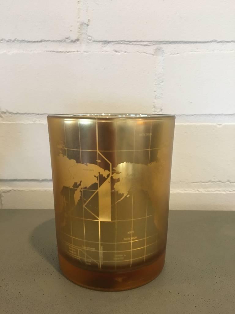 J-Line Tealight holder Worldmap L