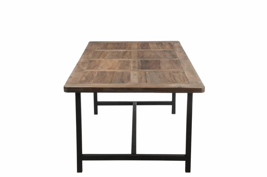 J Line Dining Table Metal Wood Julius