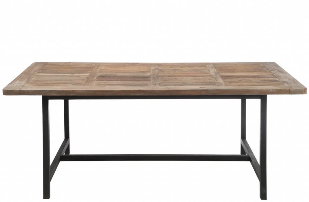 J-Line Eettafel metaal & hout Julius
