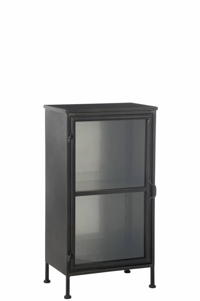 J-Line Kast zwart metaal