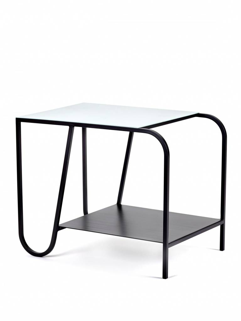 Serax Side table black/ blue vintage