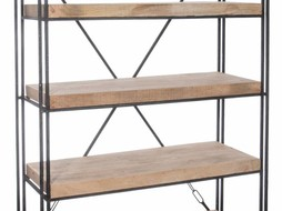 J-Line Bookshelf 4 layers wood natural