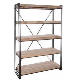 J-Line Boekenrek 4 planken hout naturel