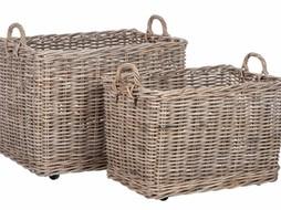 J-Line Set of wicker baskets