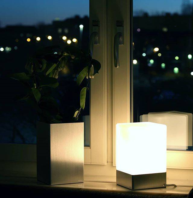 Epos of Sweden Kubb table lamp silver