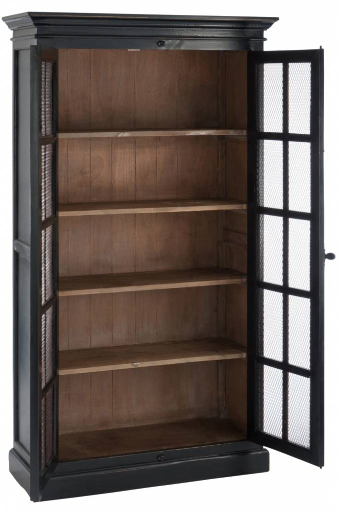 J-Line Display cabinet vintage Black