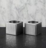 Epos of Sweden Kubb kandelaars set zilver