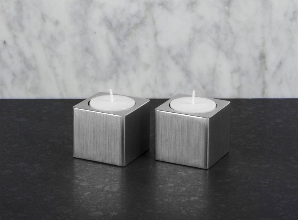 Epos of Sweden Kubb candle holders set silver