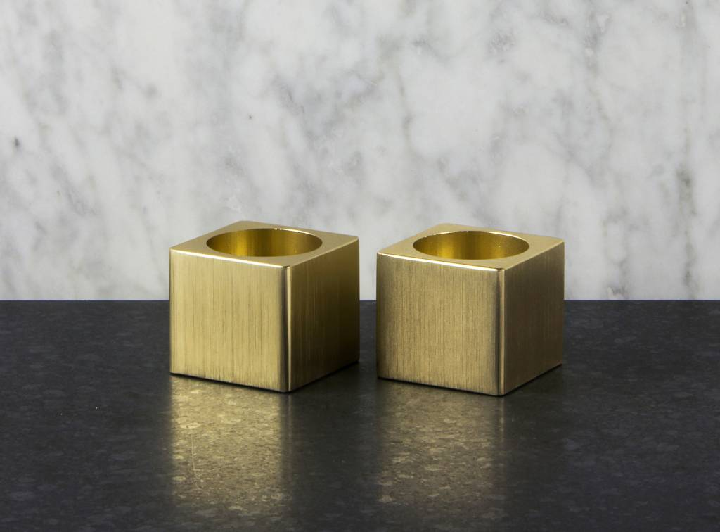 Epos of Sweden Kubb candle holders set brass