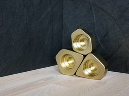 Epos of Sweden Voronoi Candle holders brass