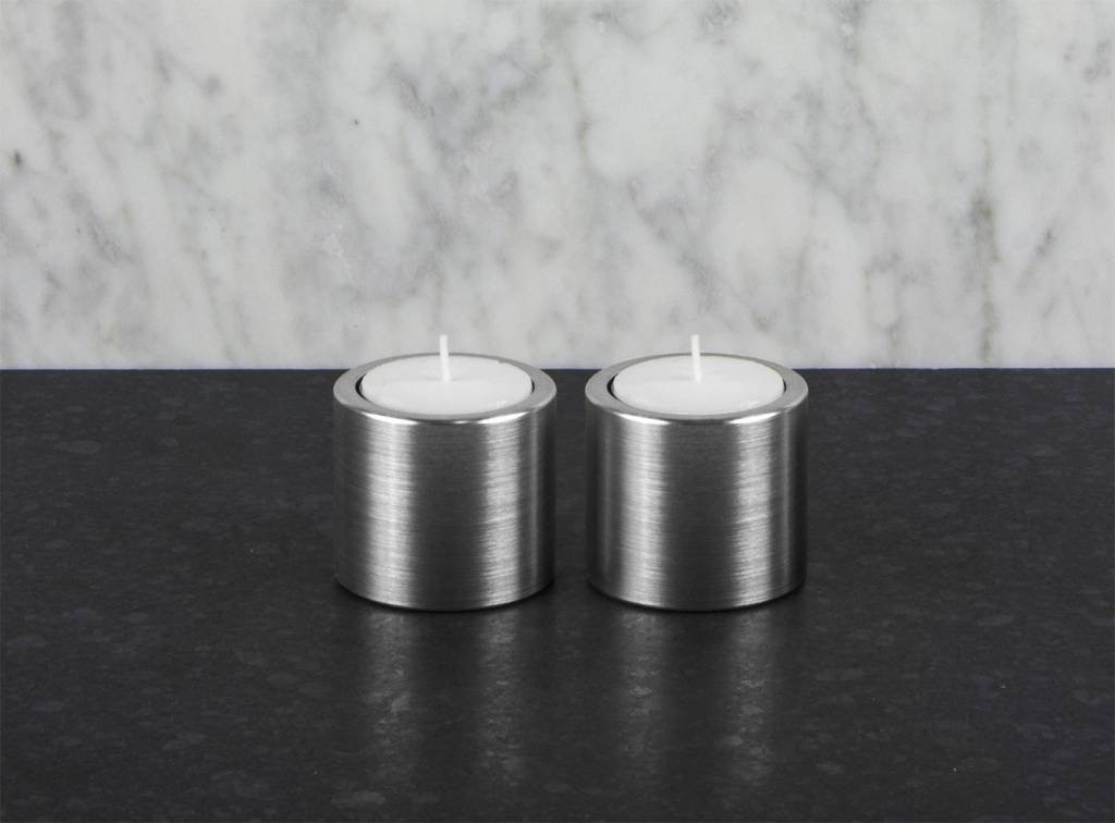 Epos of Sweden Vals candle holders silver