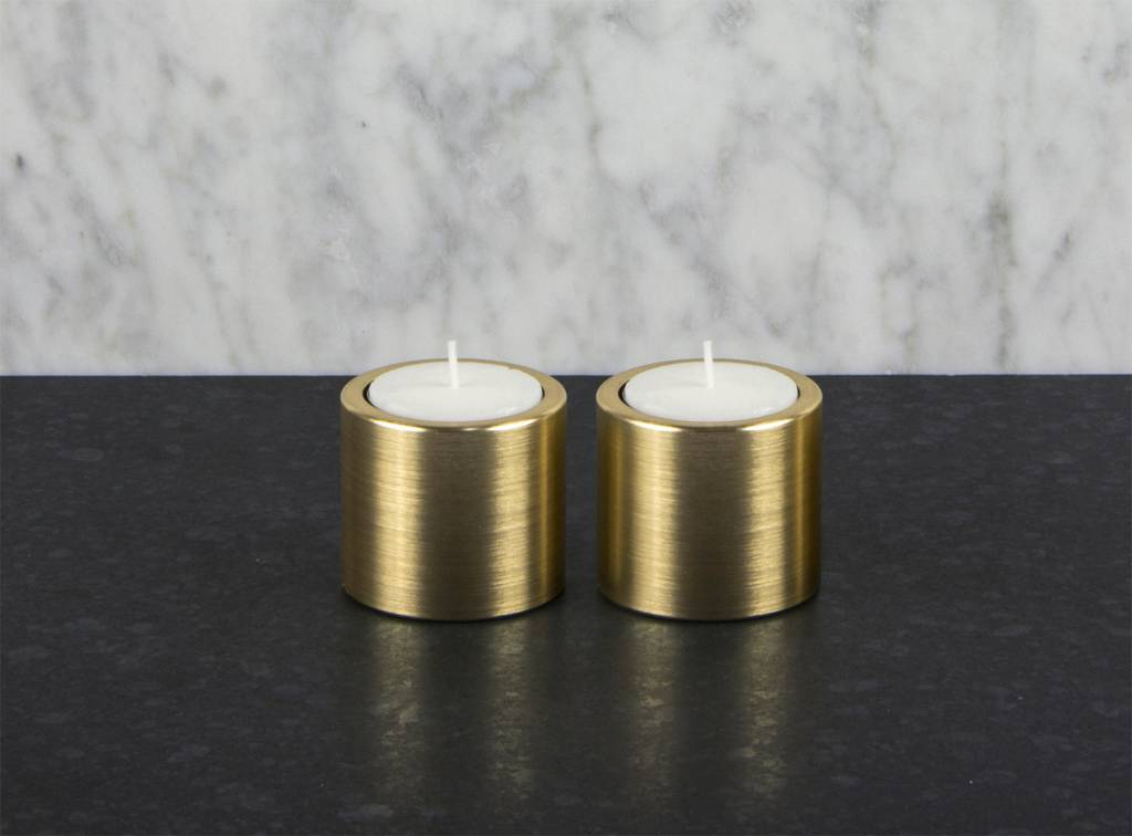 Epos of Sweden Vals candle holders brass