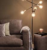 Dome Deco Vloerlamp zwart en goud