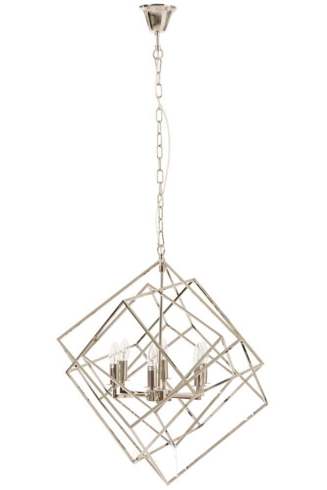 J-Line Hanglamp Kubus Zilver