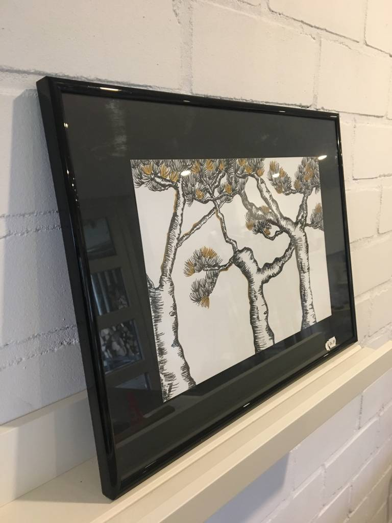 La Boutique Blanche Handmade drawing Tree framed