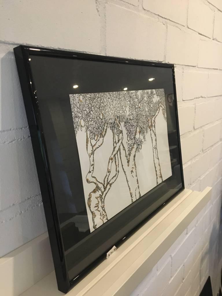 La Boutique Blanche Handgemaakte tekening Natuur ingekaderd