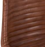 J-Line Chair leather/metal cognac