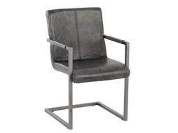 J-Line Chair Metal Grey