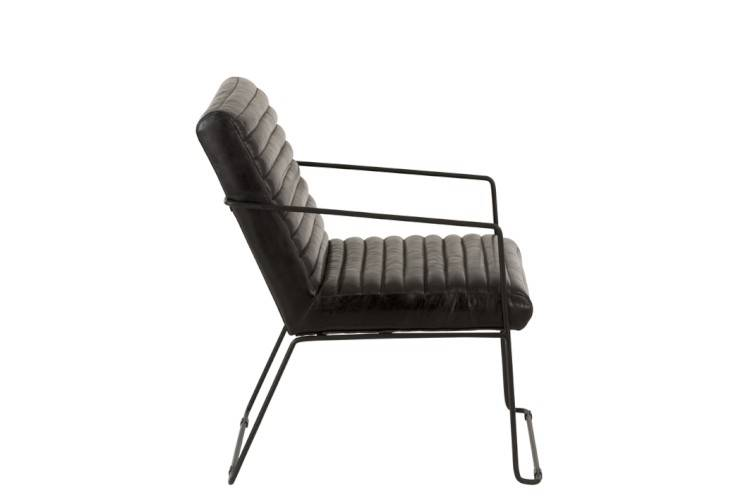 J-Line Chair leather/metal black