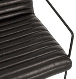 J-Line Stoel leder/metaal zwart