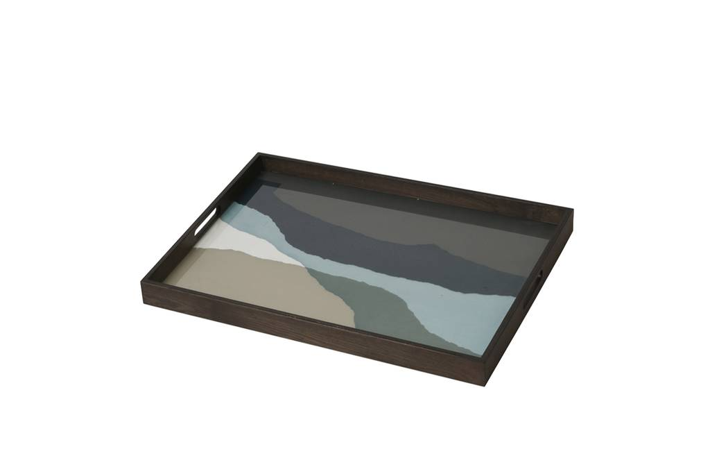 Notre monde Graphite Wabi sabi tray rectangular large