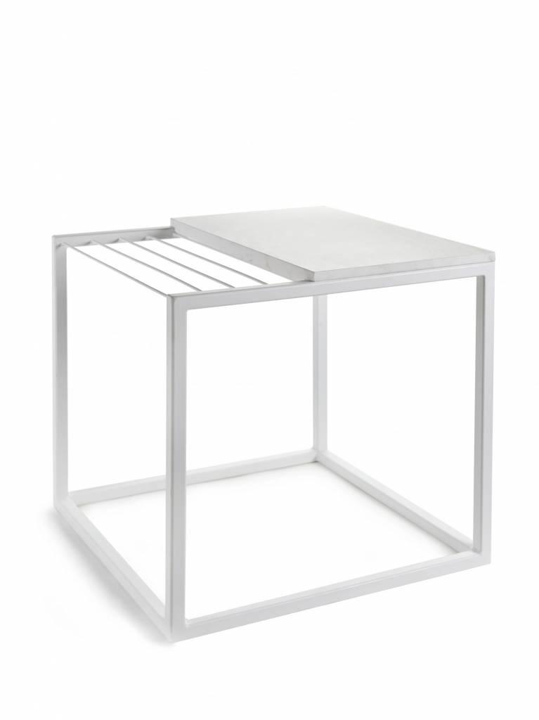 Serax Coffee table & Magazine rack marble white