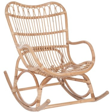 J-Line Rocking Chair Rattan Naturel