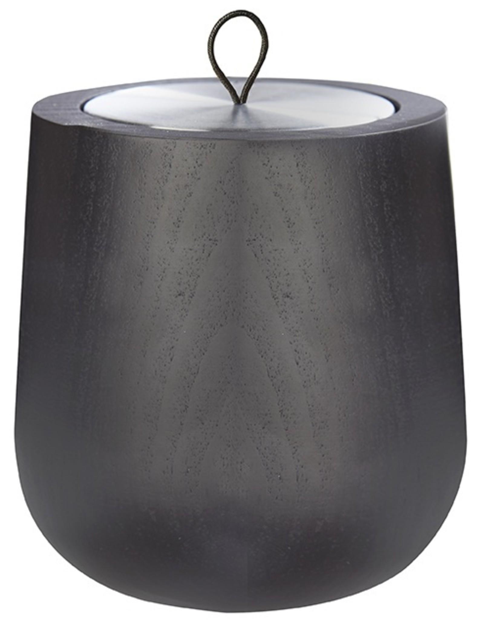 Hypsoe Houder Wooden collection zwart