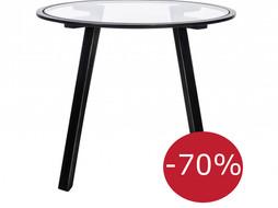 J-Line Side table Glass- Metal