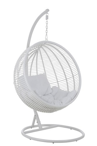J-Line Hanging chair round white