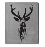 Lyon Béton Picture print on concrete Deer