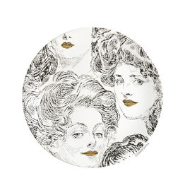 Loco Lama Decorative Wall Plate Golden Lips