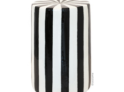 Loco Lama Ceramic Table/Stool Black & White stripes