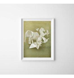 Lé Papiers de Ninon Poster Origami