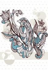 Lé Papiers de Ninon Poster A3 vogel grafisch