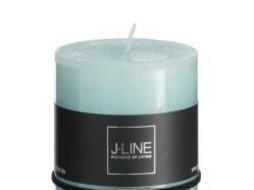 J-Line Cilinderkaars aqua