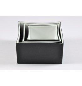 K-Design! Aperitief schalen set 3 in 1 China in Box antraciet