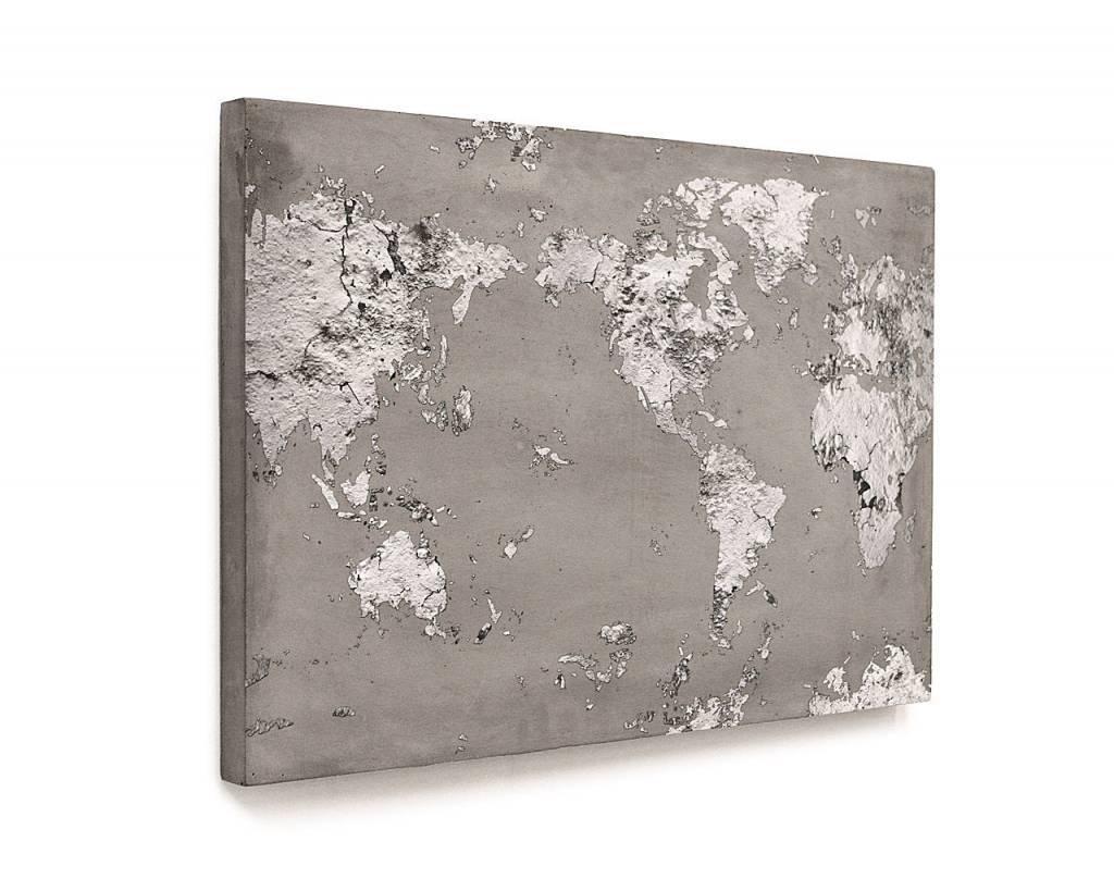 Lyon Béton Print concrete worldmap