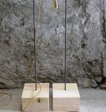 Un Esprit en Plus Lampenhouder hout & metaal hoog