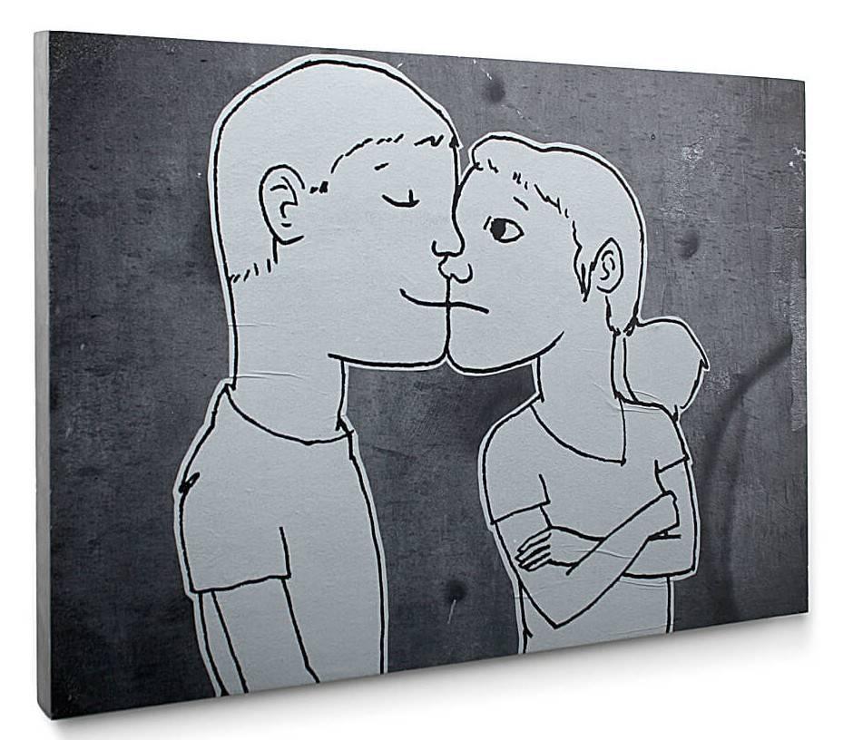 Lyon Béton Schilderij beton Les Amoureux