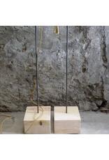 Un Esprit en Plus Houder hout & metaal laag snoerlamp