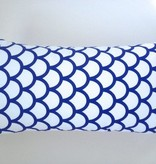 Made by Mimi Cushion print white & blue