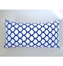 Made by Mimi Cushion white blue