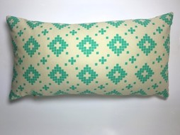 Made by Mimi Cushion print green