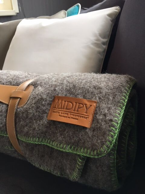 Midipy Throw Grey 100% wool